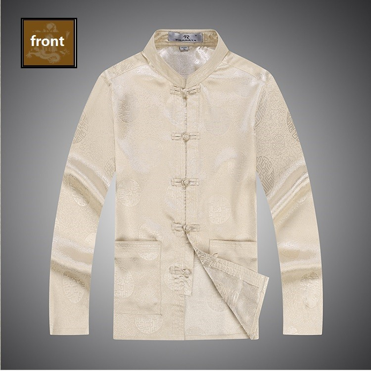 male cotton cheongsam blouse oriental clothes long sleeve cotton cheongsam blouse traditional mens clothes (9)
