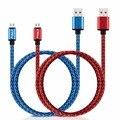 Pomer 1 m/2 m cable de sincronización de datos micro usb cable de nylon trenzado de alambre para samsung htc lg huawei xiaomi redmi meizu teléfono inteligente tableta PC