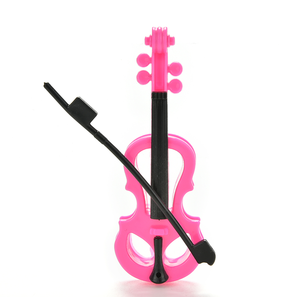Kid Play House Miniature Musical Guitar Toy Violin For  Doll HICA