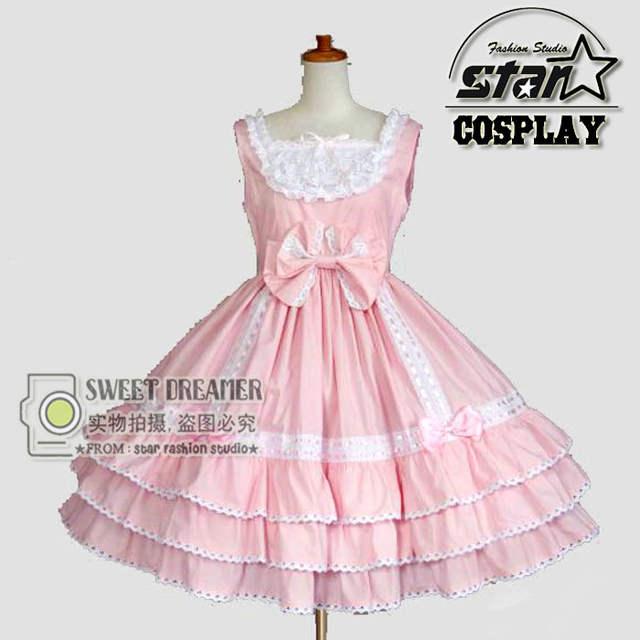 Anime Maid Cosplay Children Halloween Lolita Dress Victorian Gothic Ball  Dress Girl Princess Birthday Party Dancing fcbdb184061f