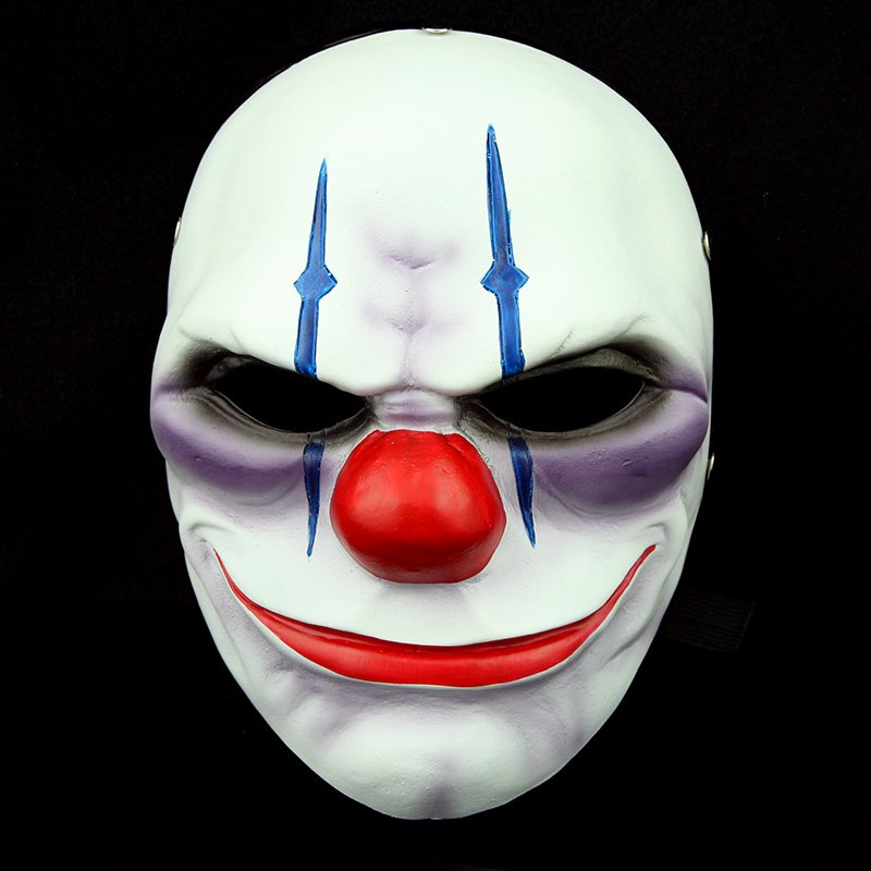 Free Shipping Payday 2 Heist Joker Clown Resin Chains Joker Mask Newest  Game Maquerade Costume Props Theme Cosplay Masks