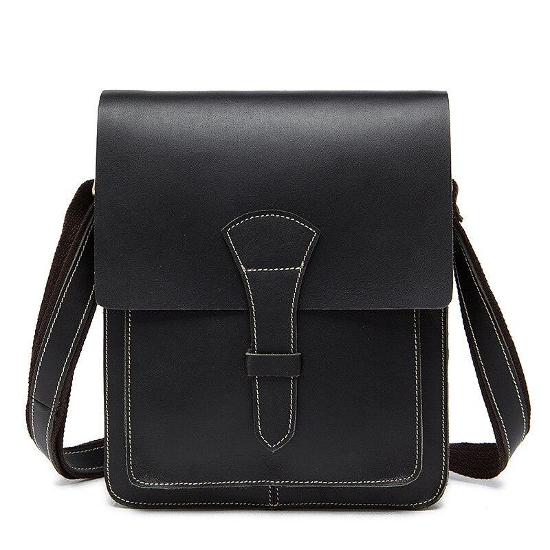 2018 Men Vintage Handbags Genuine Leather Single Shoulder&Crossbody Bag Item Organizer Messenger Bag Black coffee Crazy Horse ботинки item black item black it004awqia45