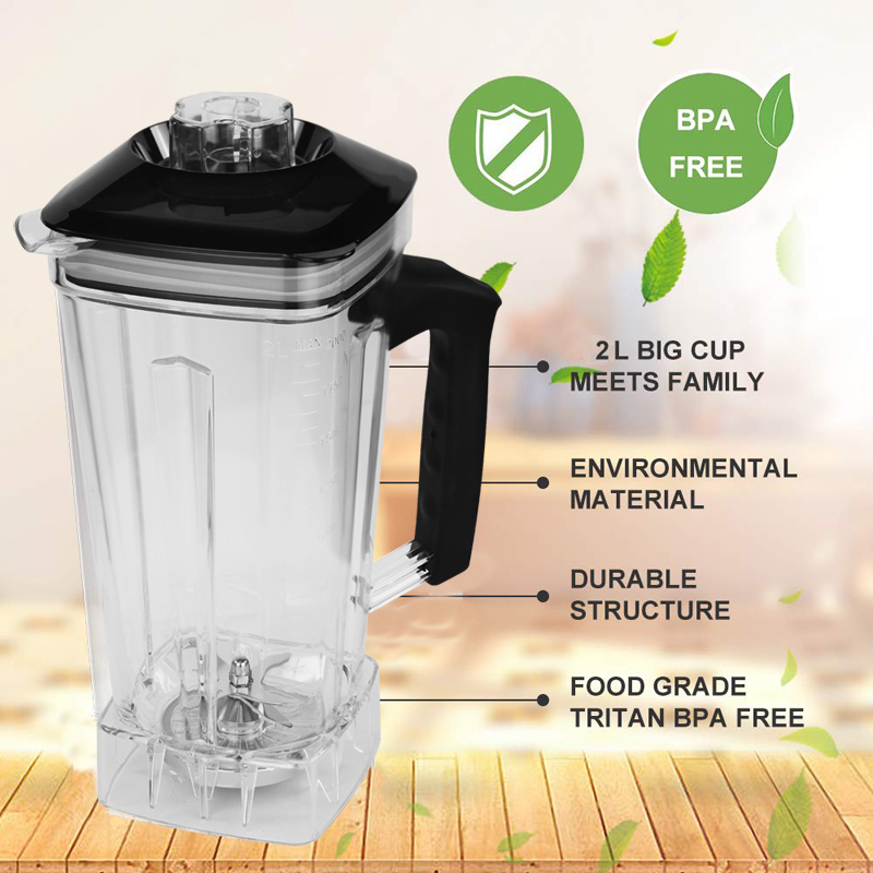 Image 4 - BPA Free Commercial Grade Timer Blender Mixer Heavy Duty Automatic Fruit Juicer Food Processor Ice Crusher Smoothies 2200WBlenders   - AliExpress
