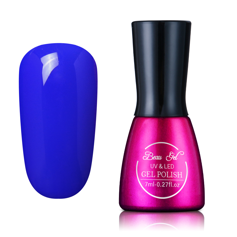 Beau Gel 7ml UV Gel Nail Polish Long Lasting Pure Color Rendam Off - Seni kuku - Foto 5
