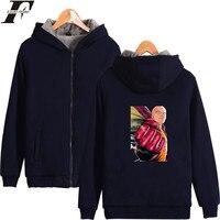 LUCKYFRIDAYF EINE PUNCH-MAN Hoodies Männer Sweatshirt Reißverschluss Sweatshirt Männer Marke Marineblau Warmen Wintermantel Männer Casual Jacken