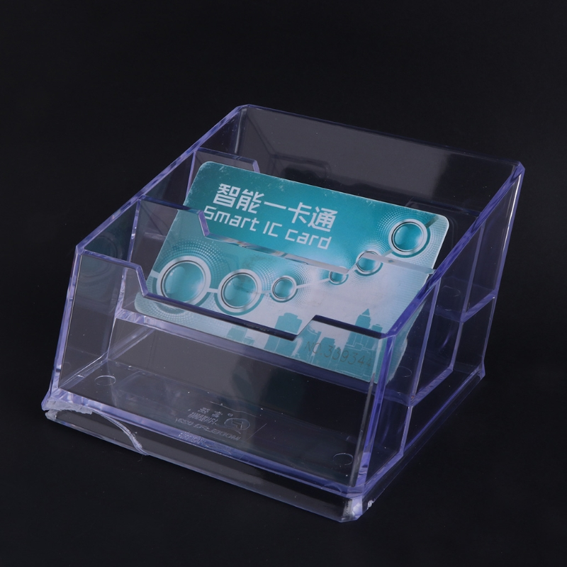 3 Tier Clear Acrylic Plastic Office Desktop Business Card Holder ...