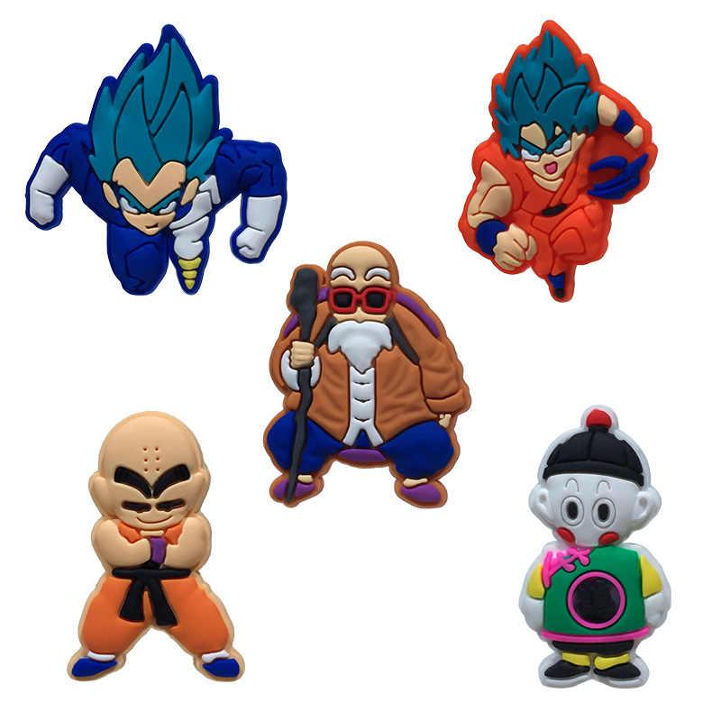 1 Pcs PVC Ikon Kartun Dragon Ball Bros Pin Lencana Jepang Tokoh Anime Pin Lencana Ransel Pakaian Topi Dekorasi