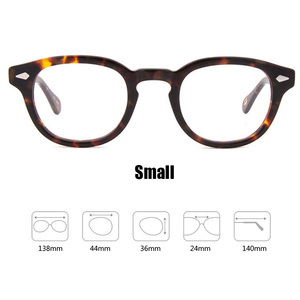 Image 4 - Johnny Depp Glasses Men Women Computer Goggles Round Transparent Eyeglass Brand Design Acetate Style Vintage Frame sq004