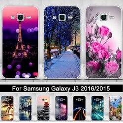 Silicone étui pour Samsung Galaxy J3 2016 J320 J320F Impression Couverture de Téléphone Pour Samsung J3 2015 TPU souple Coquilles Fundas Coque Sacs