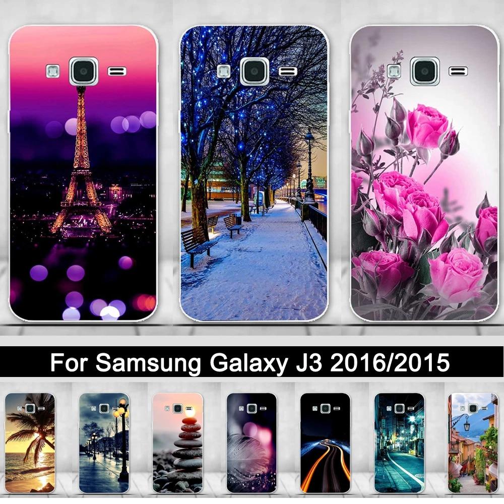 Silicone Case For Samsung Galaxy J3 2016 J320 J320F Print Back Phone Cover For Samsung J3 2015 Soft TPU Shells Fundas Coque Bags
