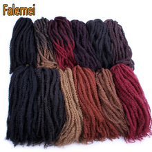 FALEMEI Afro Kinky Marley Hair Braids 20roots 100g/pack Ombr
