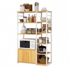 Стеллаж для посуды, кухонная стойка, напольная многослойная полка для хранения, шкафчик, шкаф, бытовая полка для микроволновой печи