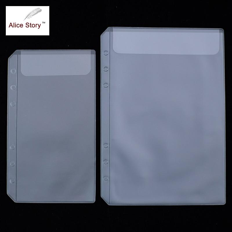 Spiraal Notebook PVC Opbergtas Ontvang Card Bag A5 A6 Losbladige Diary Coil Ring Binder Filler Kalender Rits tas