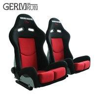 2017 New Arrivl 1 Pair Adjustable Black Red Auto Car Seats Sport Racing Car Seats