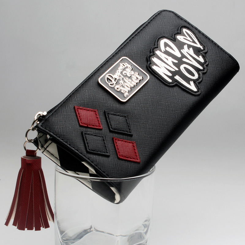 купить DC Comics Harley Quinn Mad Love Zip Around Wallet Satchel Clutch Purse DFT-5510 по цене 961.97 рублей