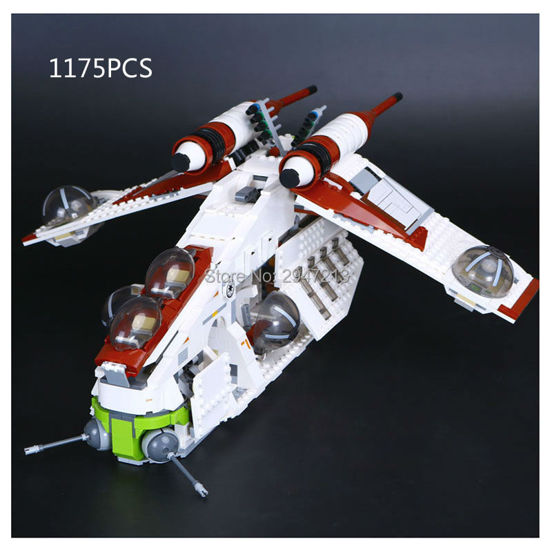 2017 hot compatible LegoINGlys Star Wars Series brick Republic Gunship with Soldiers figures Building blocks Toys for children hot compatible legoinglys batman marvel super hero movie series building blocks robin war chariot with figures brick toys gift