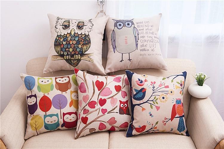 45x45cm Modern Lady Linen Cotton Cushion Cover Washable Portable Throw Pillow Cases Sofa Funda Cojin