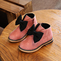 shoes kids girls winter 2016 New fashion girls leather boots Children snow boots Kids baby Bow princess shoes girls ankle boots