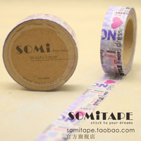 Hot Selling Somitape DIY Washi Tape Decoration Gift Packing Mix Free Shipping