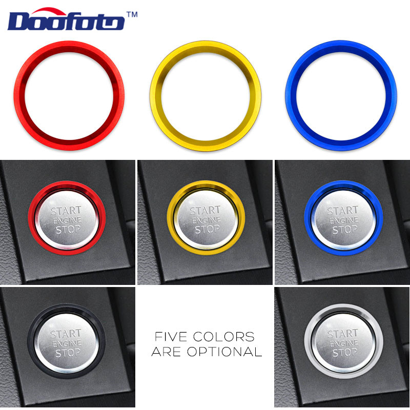 Doofoto Car Styling Engine Start Stop Lgnition Ring Circle Decor Case For Audi A4 A5 A6 A7 B8 BT Q5 8R B9 C7 Circle Accessories