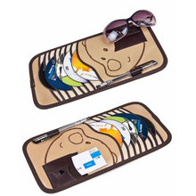 10pcs Disc Capacity Bear PatternTidy Sleeve CD DVD Car Sun Visor Card Case Wallet Storage Holder Bag Free shipping