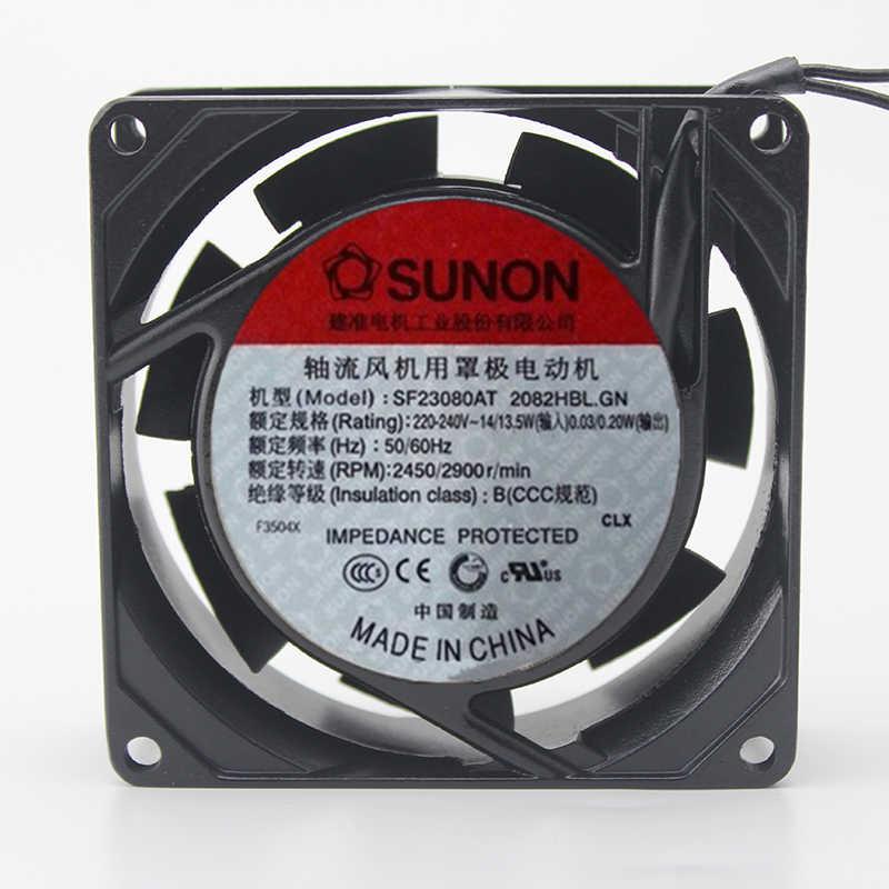Original Sunon SF23080AT 2082HBL. GN 8 cm 8025 80mm ventilador AC 220 v ~ 230 v de Metal quadro para o tanque de peixes de refrigeração do gabinete fã