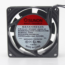 Originele Voor Sunon SF23080AT 2082HBL.GN 8 Cm 8025 80 Mm Fan Ac 220V ~ 230V Metalen Frame Voor aquarium Kast Koelventilator