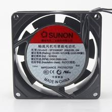 Оригинальный Sunon SF23080AT 2082HBL. GN 8 см 8025 80 мм вентилятор AC 220 В ~ 230 В металлический каркас для аквариума шкафа Вентилятор охлаждения