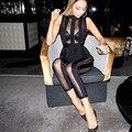 Wantmove 2017 летняя мода комбинезоны женщины комбинезоны bodycon пят длина тощий сексуальная клуб рукавов see through элегантный MQ450