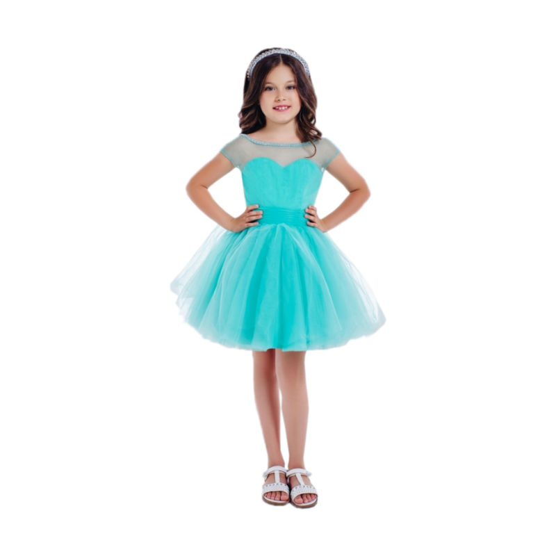 Short Flower Girls Dresses For Wedding Gowns Fashion Kids Pageant Dresses A-Line Girls Clothes Tulle Mother Daughter Dresses new girls dresses summer 2016 short sleeve v neck rabbit princess costumes for kids chinese style a line dresses girls clothes