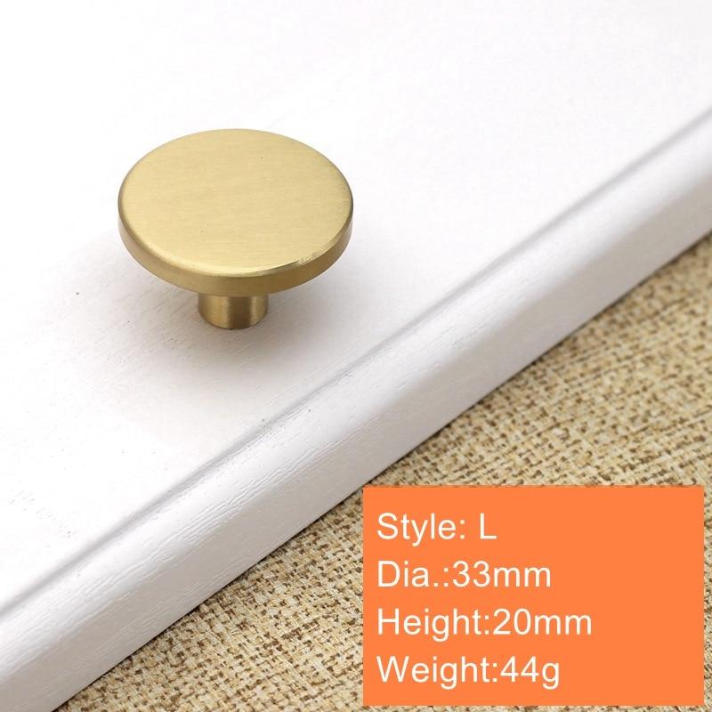 Круглые латунные ящик для буфета ручки Золото шкаф для мебели ручки дверные для шкафа Pulls-1Pack - Color: 33x20mm