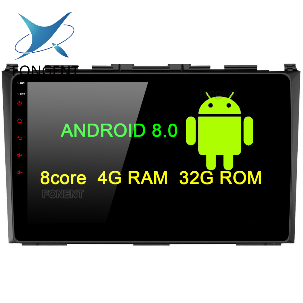 fongent 9 android 8 0 car gps radio player for honda crv. Black Bedroom Furniture Sets. Home Design Ideas