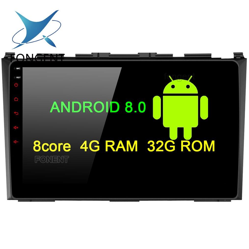 Fongent 9 Android 8.0 Voiture GPS Radio Player pour Honda CRV 2006 2007 2008 2009 2010 2011 avec Auto stéréo Multimédia Vidéo DAB +