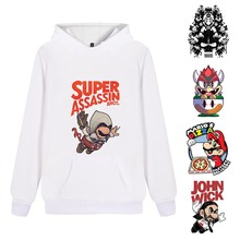 Super Mario Cute Cartoon Printed Fashion Casual Harajuku Hoodie Pink/White/Grey Unisex Hoodie A193161 стоимость
