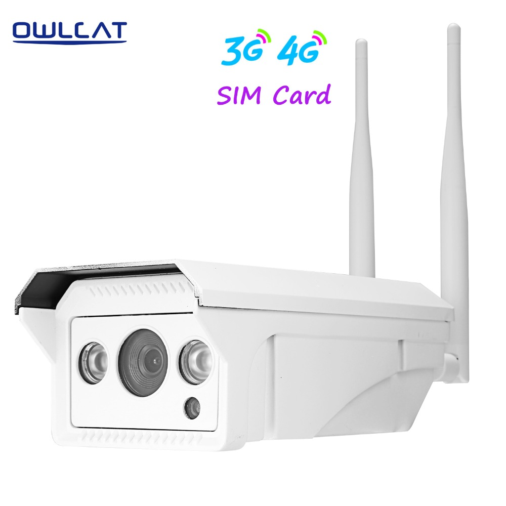 imágenes para Owlcat Onvif 2.1 HD 960 P 1080 P cámara ip wifi inalámbrico al aire libre H.264 Impermeabilizan la Cámara de Seguridad CCTV 3G 4G SIM Tarjeta De La cámara ip