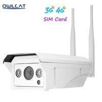 Owlcat Onvif 2.1 HD 960P 1080P ip camera wireless wifi outdoor H.264 Waterproof CCTV Security Camera 3G 4G SIM Card ip camera