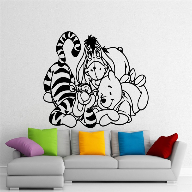040 WINNIE THE POOH TIGGER PIGLET PERSONALIZED CUSTOMIZED DOOR ROOM POSTER