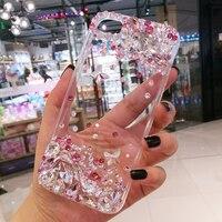 아이폰 7 7 플러스 3D 다이아몬드 라인 석 전화