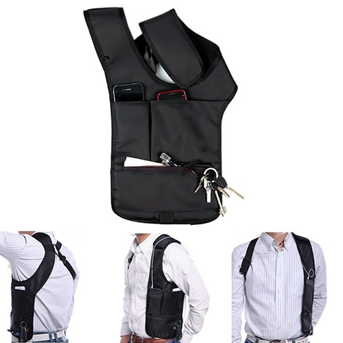 Travel Safe Anti-Theft Hidden Underarm Shoulder Bag Double-Bag Design Pouch