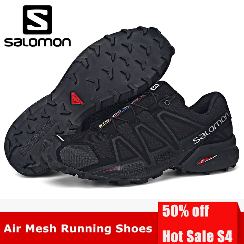 2018 Original Salomon Shoes zapatos hombre men Speed Cross 4 CS III Sneakers Men Speedcross running Sport Shoes Fencing Shoes