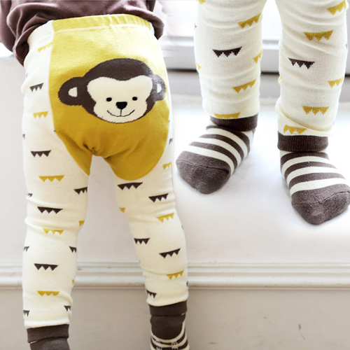 Kid's Cotton Skinny Pants with Cartoon Pattern 2