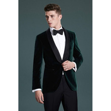 2017 Latest Coat Green Velvet Men Suit Slim Fit 2 Piece Groom mens tuxedo new Burgundy men Wedding Suits Blazer Terno masculino