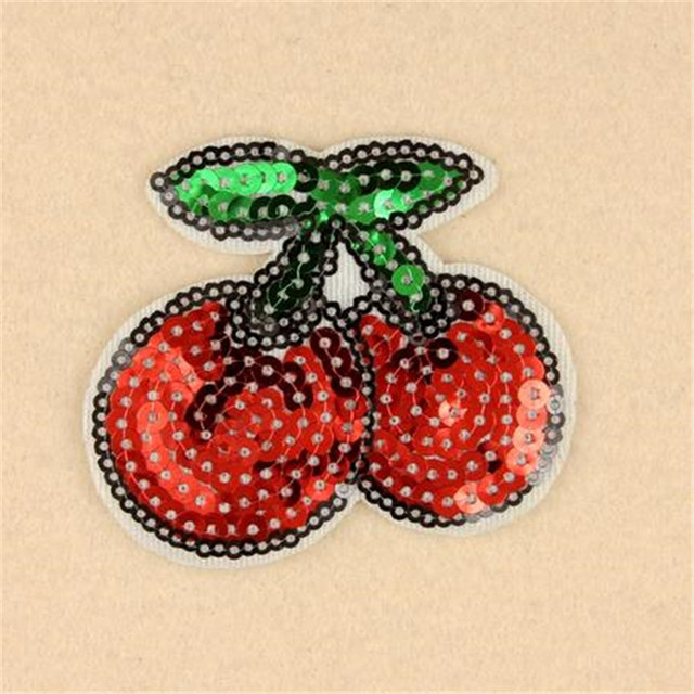 Hot sale women/men/boy/girl clothes embroidery patch fashion sequins  bowknot badge