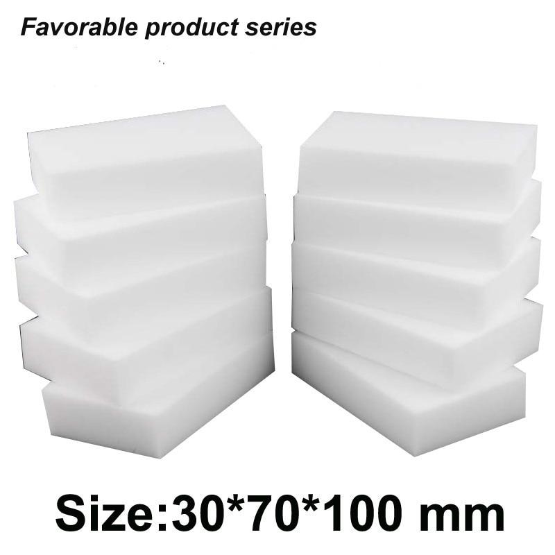 ¡30*70*100mm, esponja de melamina 200 Uds. Orferta de fábrica! Borrador de esponja de limpieza de melamina milagrosa de alta densidad, Borrador Mágico blanco-34