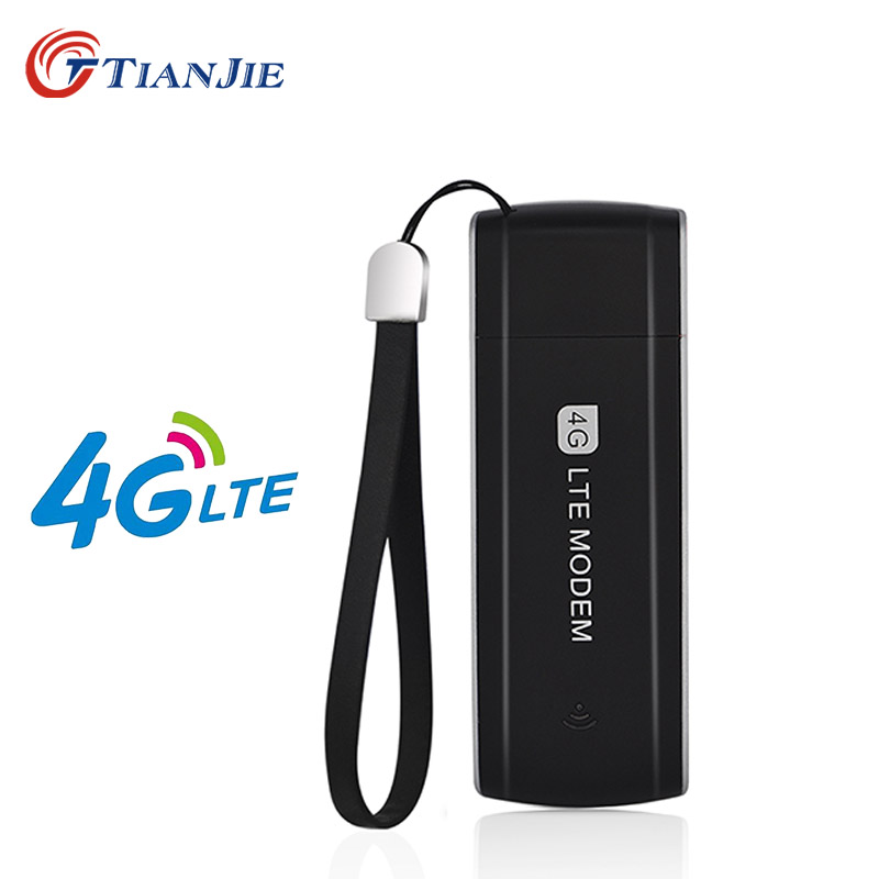 TIANJIE Unlocked 3G 4G USB modem GSM WCDMA UMTS LTE FDD TDD usb dongle network stick sim card usb network key(China)