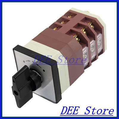 On/Off/On 3 Position Momentary AC 380V 16A Cam Combination Changeover Switch rectangle metal box on off position push button switch ac 380v 3 7kw tbsn 330