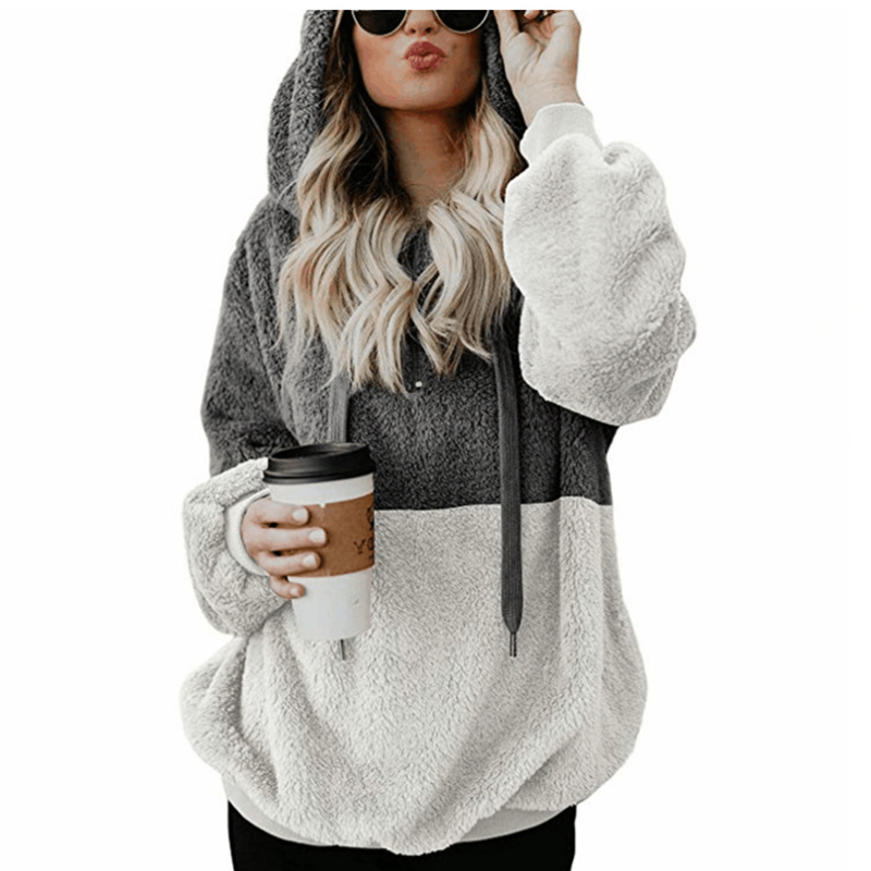 autumn winter fleece pullover sweater women casual Harajuku hooded womens sweater 2018 jumper women pull femme oversized sweater