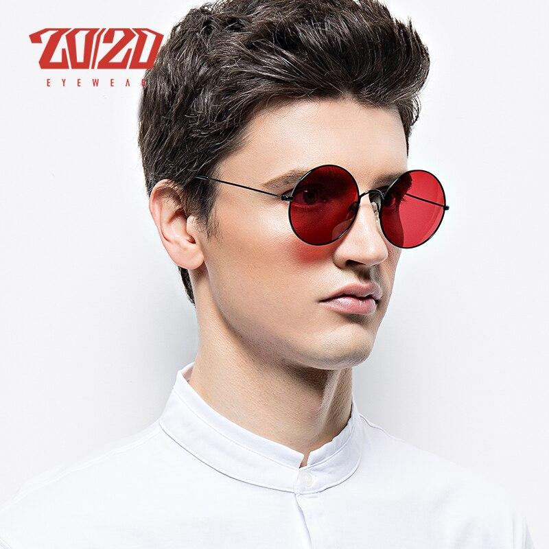 20/20 Brand New Unisex Sunglasses Men Polarized Women Vintage Round Metal Glasses Accessories Sun Glasses for Women 17008 2