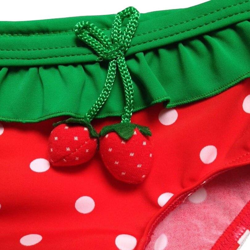 Bosudhsou H-94 Baby Infant Strawberry ujumisriided Bikini tüdruk - Beebiriided - Foto 5