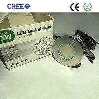 10 шт. новый стиль высокого качества ip67 3 Вт удара inground LED лампа подземных солнечный подземный свет LED с DC/AC12V